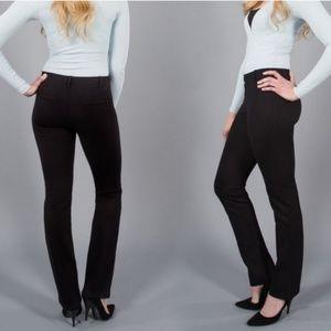 Betabrand Dress Pant Yoga Pants Straight Leg Long